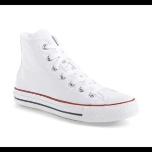 Converse all star white high top sneakers 7us